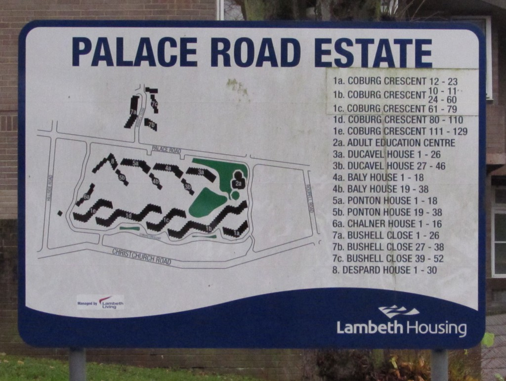 Palace Road Estate sign