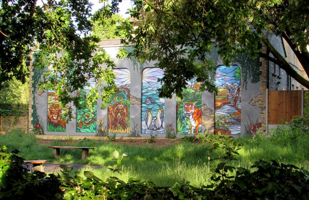 Nature Garden mural