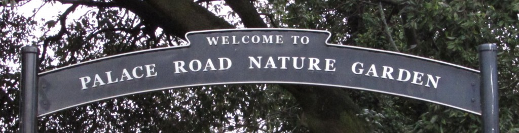 Nature Garden entrance sign