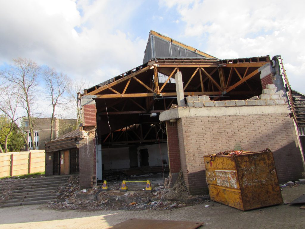 Creative destruction? Our community hall being demolished in 2016