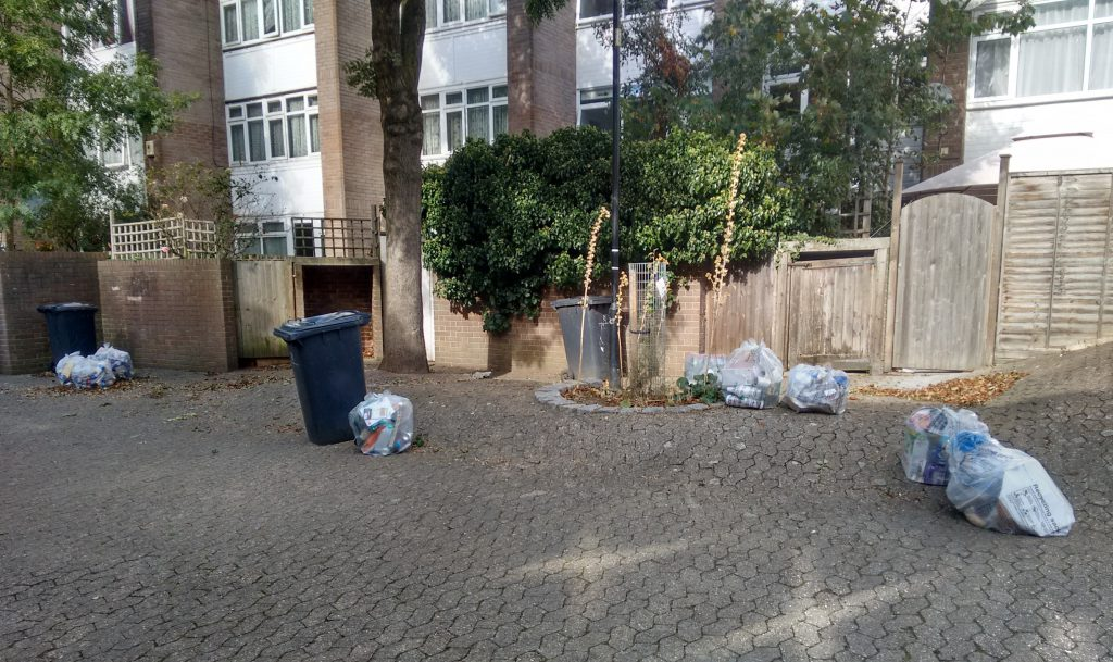 Uncollected recycling