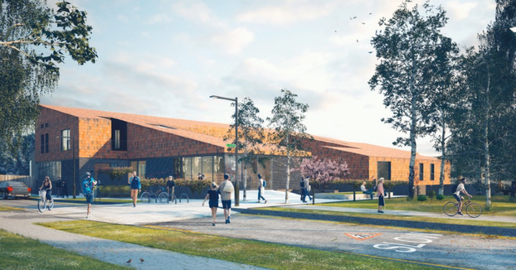 Artist's impression of the new resource centre