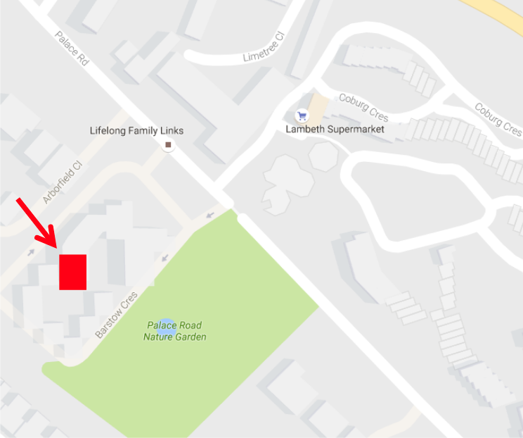 Map showing the location of Laburnum Hall
